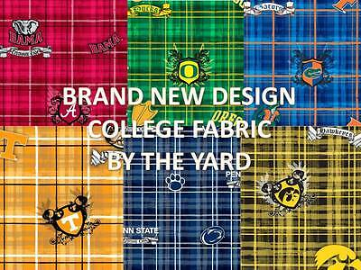 COLLEGE COTTON FABRIC-UNIVERSITY COTTON FABRIC-SOLD BY THE YARD-SCHOOLS M-Z#800 Crafts