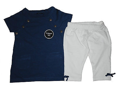 Baby Girls 2 Piece Set Top & Leggings Party Outfit Sailor 9 12 18 & 24 Months