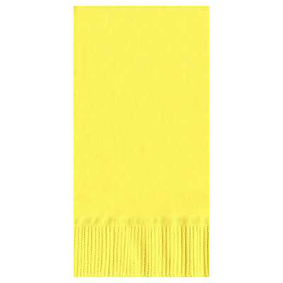 50 Plain Solid Colors Dinner Hand Towel Napkins Paper - Mimosa/Yellow