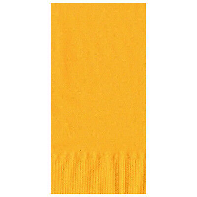 50 Plain Solid Colors Dinner Hand Towel Napkins Paper - Harvest Yellow