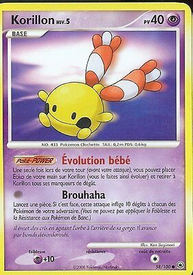 "Carte POKEMON "" KORILLON ""  Aube Majestueuse 40 PV 58/100 VF"