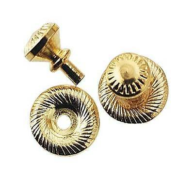 1:12 Scale Dollhouse Victorian Brass Knobs w/Back plates 2 pairs