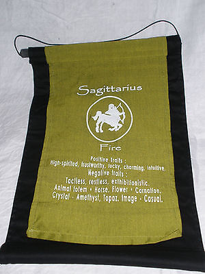 Sagittarius Zodiac star sign Wall hanging Astrology Horoscope decor art new age