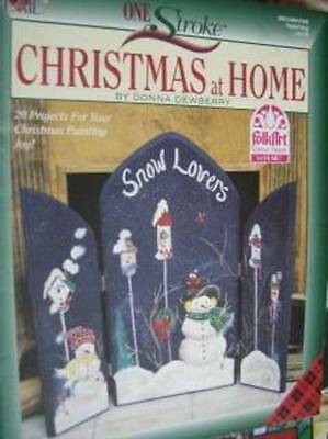 Christmas At Home Dewberry Painting Book Snowmen, Ornaments, Magnolia, Pointsett