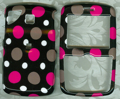 POLKA DOT PINK PHONE COVER SNAP ON CASE PANTECH REVEAL C790 AT&T