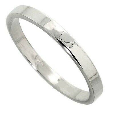 757f08fc77173 6MM MEN & Women Sterling Silver Plain FLAT Wedding Band, Thumb Ring ...