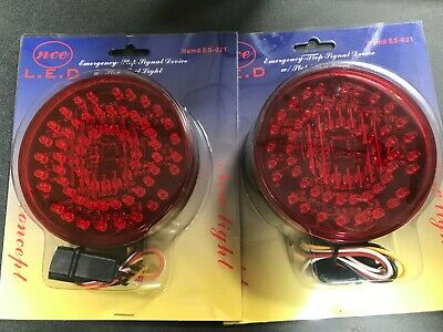 """(12) 4"""" LED Stop Turn Tail Light + Emergency 4 Truck Trailer RV Special Purpose"""