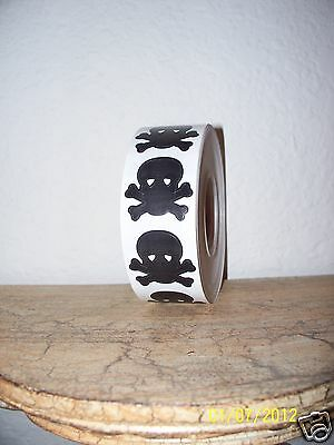 Lot 100 Skull And & Crossbones Pirate Tanning Bed Stickers Temporary Tattoos New