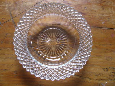 """Vintage English Hobnail small dish  6"""" dia.  Clear glass"""