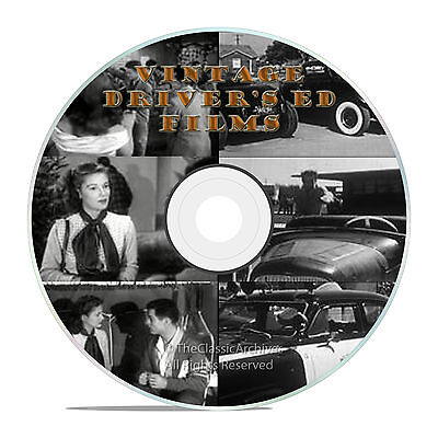 Vintage 50's Drivers Ed Education Shock Films, Learn To Drive Videos Dvd -J22