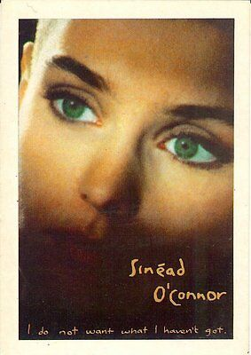 Carte Postale Postcards Chanteuse Irlandaise SINEAD O'CONNOR I Do Not want what