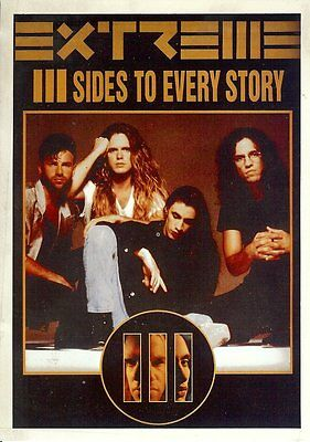 Carte Postale Chanteur Groupe EXTREME III Sides to Every story