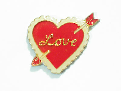 Vintage Valentine Heart Love Pin