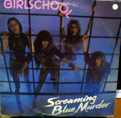Girlschool Screaming Blue Murder LP Italia Bronze 1982