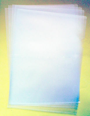25 x Quality Clear Plastic A4 CUT FLUSH Folders Wallets Pockets - SENT SAME DAY!