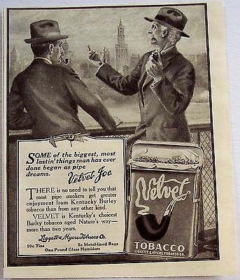 1916 original vintage tobacco Ad Velvet by Kentucky Burley