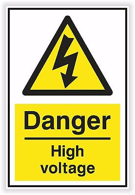 DANGER HIGH VOLTAGE Sticker Electric Warning Safety Vinyl Decal SECURITY #02