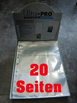 Ultra Pro 9-Pocket Pages Silver Series 20 Seiten Pages NEU