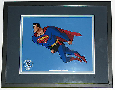 ANIMATED SUPERMAN SPECIAL EDITION PROMOTIONAL SERICEL WB 1992 Framed w COA