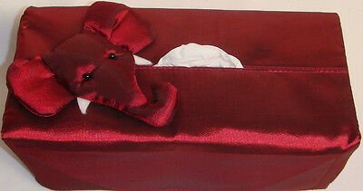 Handmade Elephant Tissue Box Cover to fits size 224's or 200's Brand New!