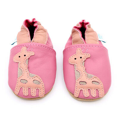 Dotty Fish Soft Leather Baby & Toddler Shoes - Pink Giraffe - Newborn - 2-3 Year