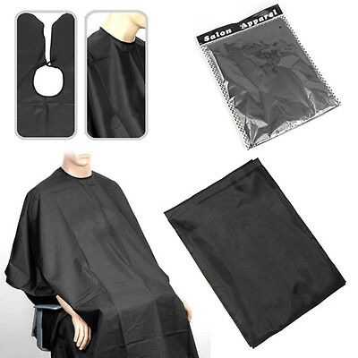 Professional 145x120cm Salon Hair Cut Hairdressing Barbers Cape Black Gown New