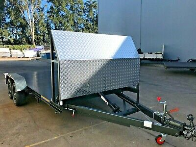 Brand new Tandem axle Car Trailer hydraulic tilt 14X6.6FT 2T ATM ALSO 16FT AVAIL