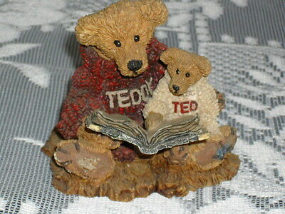 Boyds Bears and Friends Love & the Gentle Heart... Reading to Baby Bear Figurine