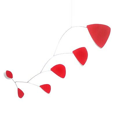 Abstract Modern Pilot Red Hanging Mobile Painted Museum Quality Hand Made New