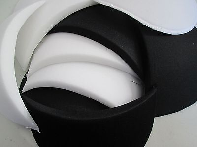 One Pair Shoulder Pads Small Medium Or Large, Black Or White To Choose From