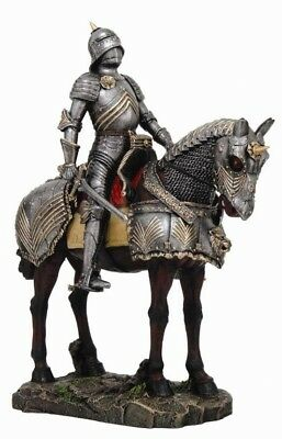Large Heavy Armor Cavalry Medieval Knight of Valor Suit of Armor Statue Figurine
