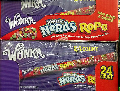 WILLY WONKA NERDS ROPE CANDY SUGER SWEET CHEWY RAINBOW SOFT GUMMY