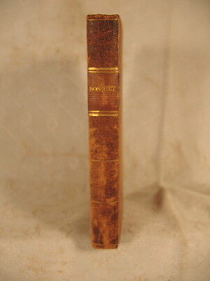 rare ANTIQUE OLD LEATHER LITTLE  FRENCH  BOOK 1828 BOSSUET HISTORY BOSSANGE