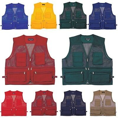 New Multi Pockets Fly Fishing Hunting Mesh Vest Mens Travel Outdoor Jacket Top A