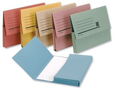 12 Document Wallets 285Gsm Foolscap Assorted - Free P&p Deal!