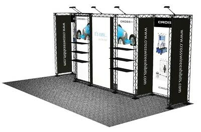 10X20 Trade Show Display Light Black Plastic Truss Composite Portable Booth