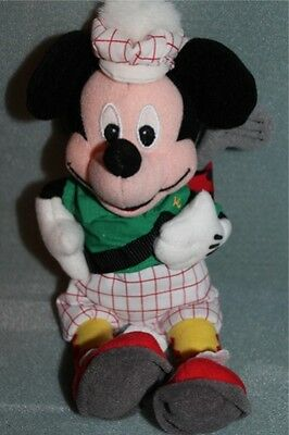 "Disney 10"" Golfer Mickey Bean Bag Plush Toy Doll"