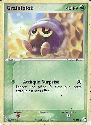 "Carte Pokemon "" GRAINIPIOT "" Niveau Base Tempete de Sable PV 40 76/100  VF"
