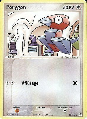 "Carte Pokemon "" PORYGON "" Niveau Base ESPECES DELTA PV 50 80/113  VF"
