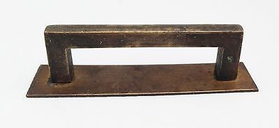 "Brass antique hardware Arts&Crafts Mission drawer pull 2 1/4"" center"