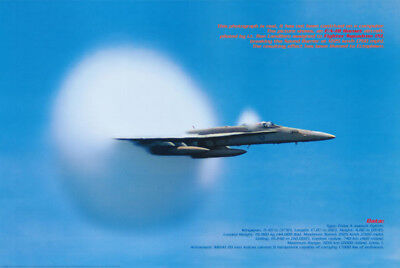 Poster : Breaking The Sound Barrier :f/a 18 Hornet -Free Shipping ! #3533 Rc45 Q