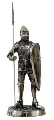 "Pikeman Castle Guard Statue Medieval Knight of Valor Crusader 7"" Tall Figurine"