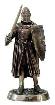 "Crusader with Sword and Shield Statue Medieval Knight of Valor 7"" Tall Figurine"