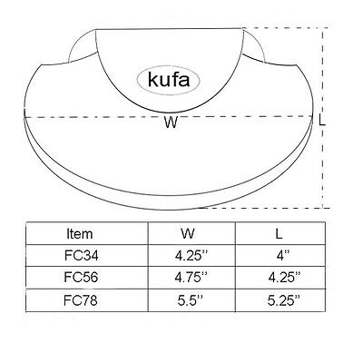 Fly fishing reel cover 3 size set (FC34,FC56,FC78)