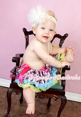 Black Hot Pink Peacock Feather Baby Pettiskirt Skirt Hot Pink Top Set 3-24Month