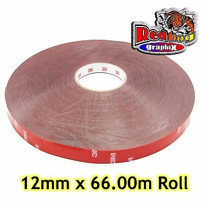 3M Genuine Double Sided Tape ( Automotive Grade ) - 12mm x 66.00m Long
