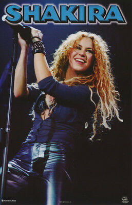 Poster : Music : Shakira In Concert - Blue -  Free Shipping !     #7591   Rc33 Z