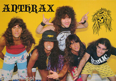 Poster : Music : Anthrax    - All 5 Posed  - Free Shipping !! #aa360   Rp66 Q