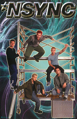 POSTER - MUSIC - N SYNC - ALL 5 POSED  - FREE SHIPPING ! #7555  RP68 i