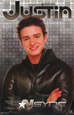 Poster :music : N Sync - Justin Timberlake - Leather -  Free Ship #7587 Rp57 P